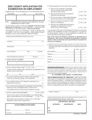erie county application for examination or employment