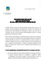 Note Argumentaire sur les procédures du BEA - Région Guyane