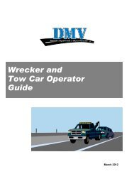 Wrecker and Tow Car Guide - Nevada Department of Motor Vehicles