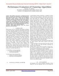 Performance Evaluation of Clustering Algorithms - IJETT ...