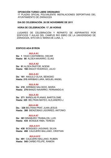 oposición turno libre ordinario 17 plazas oficial polivalente ...