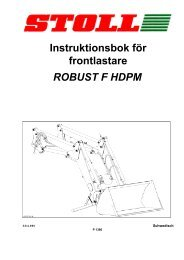 instruktionsbok för frontlastare robust f hdpm - wilhelm stoll