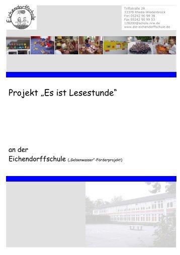 """Projekt: """"Es ist Lesestunde!"""""""