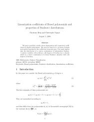 Linearization coefficients of Bessel polynomials and properties of ...