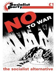 No to War - Socialist Party