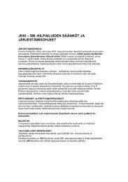 jkki – sm -kilpailuiden säännöt ja järjestämisohjeet - Suomen Palloliitto