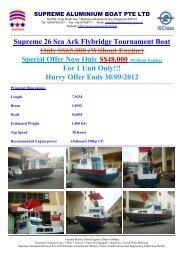 Supreme 26 Sea Ark Flybridge Tournament Boat Catalogue 2012.pdf