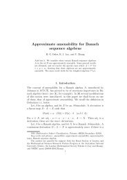 Approximate amenability for Banach sequence algebras - CiteSeerX