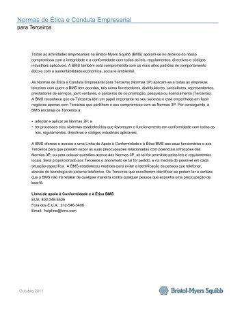 Normas de Ética e Conduta Empresarial - Bristol-Myers Squibb