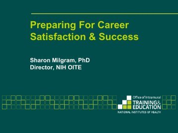 Slides: Planning for Career Satisfaction and Success BLITZ