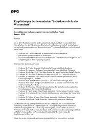 Vorschläge zur Sicherung guter wissenschaftlicher Praxis