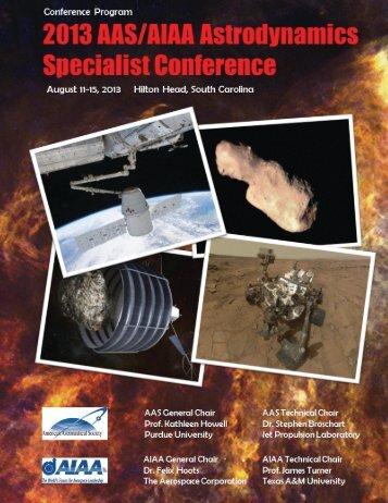 Final Conference Program - Space Flight Mechanics Committee