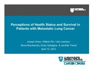 Perceptions of Health Status and Survival in Patients with Metastatic ...