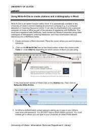 Using Write-N-Cite to create citations and a bibliography in Word