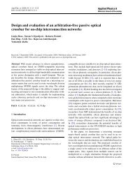 Design and evaluation of an arbitration-free passive optical crossbar ...