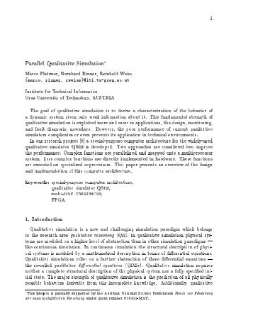 Parallel Qualitative Simulation - Pervasive Computing