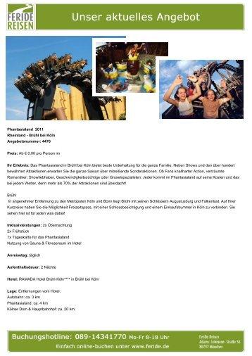 Phantasialand 2011 - Eventreisen - Trierischer Volksfreund