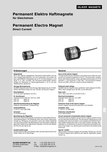 Permanent Elektro Haftmagnete Permanent Electro Magnet