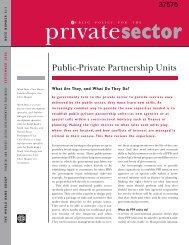 Public-Private Partnership Units - International Road Federation