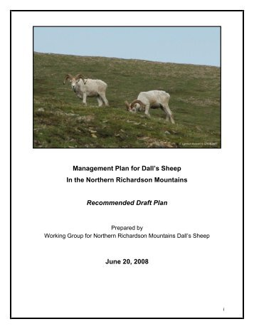 Dall's Sheep Management Plan - Gwich'in Renewable Resources ...