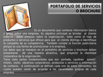 portafolio de servicios o brochure
