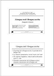 Llengua oral i llengua escrita