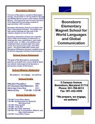 Boonsboro Elementary Magnet School for World Languages and ...