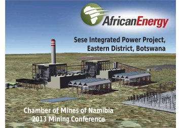 Sese Integrated Power Project, Eastern District, Botswana Chamber ...