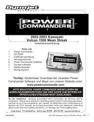2002-2003 Kawasaki Vulcan 1500 Mean Streak - Power Commander