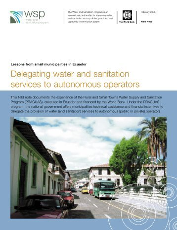 Delegating water and sanitation services to autonomous ... - BVSDE
