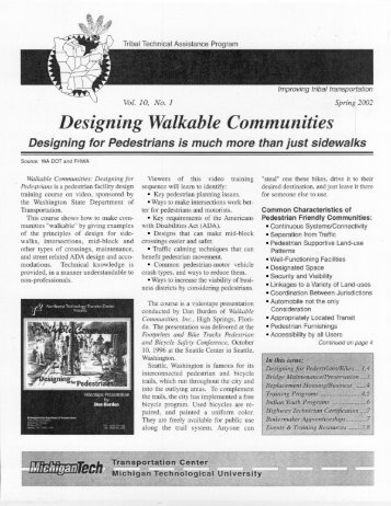 Pathways Volume 10, No. 1 Spring 2002 - Michigan Tech Tribal ...