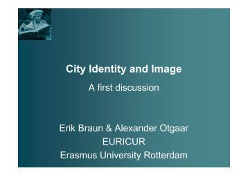 City Identity and Image - CRII