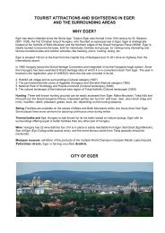 tourist attractions and sightseeing in eger and the surrounding areas ...