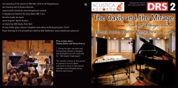The Oasis and the Mirage - ACUSTICA RECORDS