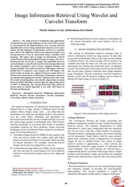Image Information Retrieval Using Wavelet and Curvelet Transform