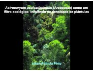 Astrocaryum aculeatissimum (Arecaceae) como um filtro ecológico ...