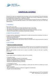 charte du tutorat - Timone.univ-mrs.fr - Université de la Méditerranée