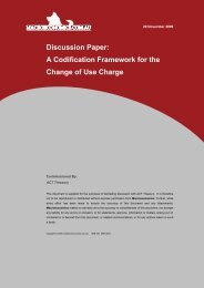 Discussion Paper for Codification of Change of Use Charge 20 ...