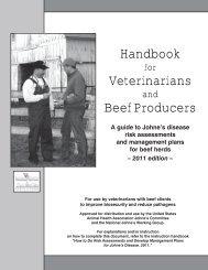 Handbook for Veterinarians and Beef Producers - Delaware ...