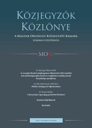 Közjegyzők közlönye 2012. 6. szám - Magyar Országos Közjegyzői ...