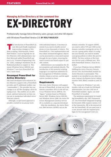 Ex-DirEctory - ADMIN Magazine