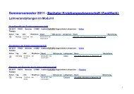 Sommersemester 2011 - Bachelor Erziehungswissenschaft ...