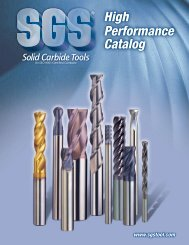High Performance Solid Carbide Tools - Rapp Industrial Sales
