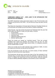 Companion Animals Act - Division of Local Government - NSW ...