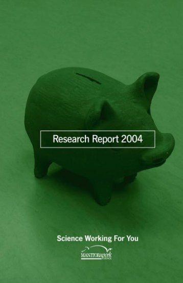 Research Report 2004 - Manitoba Pork Council