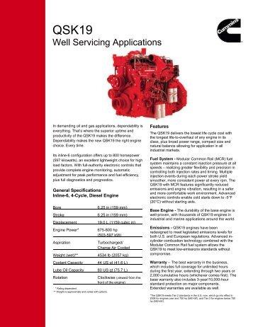 Well Servicing Applications - Cummins Engines