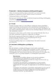 Aftale om individuelle udviklingsplaner mellem de ... - Personaleweb