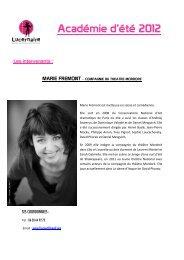 Académie d'été 2012 - Le Lucernaire