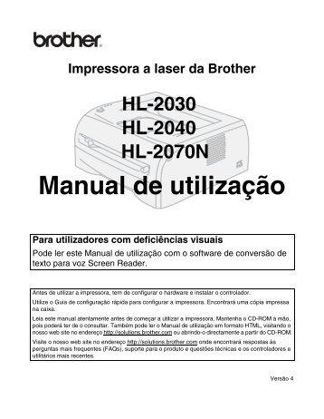 Manual de utilização - Brother