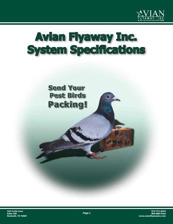 Avian Flyaway Inc. System Specifications - NFMT